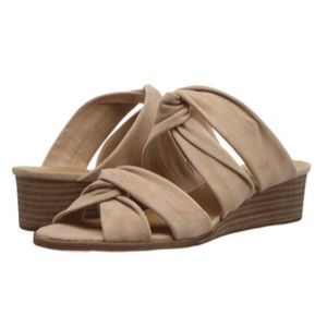 Lucky Brand Rhilley Wedge Slip On Tie Sandals